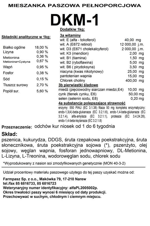 Etykieta DKM - 1 kruszonka worek 20 kg